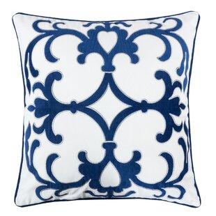 Hubbert Applique Velvet Throw Pillow
