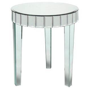 Mcfee Beveled Mirror End Table by House of Hampton