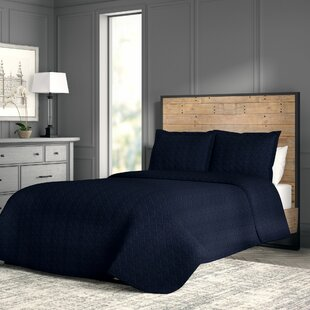 Haddam Basket Weave 3 Piece Matelassé Coverlet Set