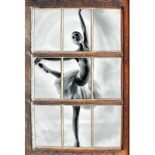 Aesthetic Ballerina Wall Sticker By East Urban Home