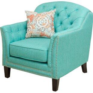 Plumwood Tufted Fabric Armchair Alcott Hill