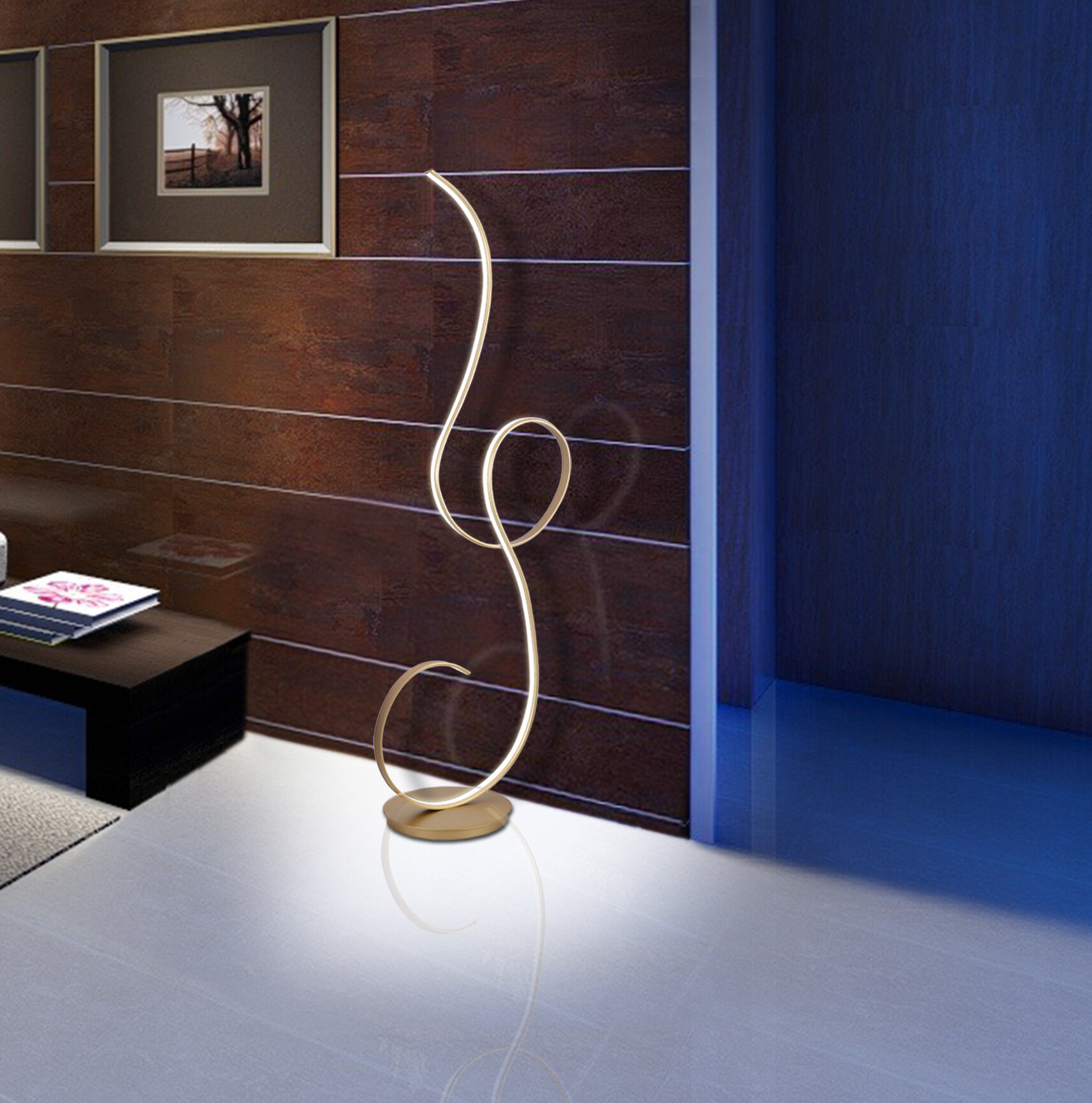 Orren Ellis Beetham 63 Led Floor Lamp