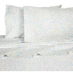Red Barrel Studio Crossen Daisies 400 Thread Count 100% Cotton Sheet Set