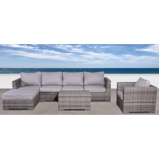 Brayden Studio Pierson 4 Piece Sectional Set with Cushions