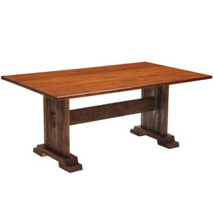 Reclaimed Barnwood Rectangle Harvest Dining Table by Fireside Lodge 2019 Sale