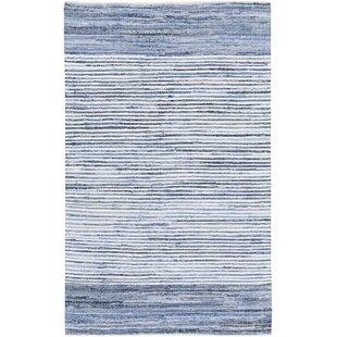Bargain Phillips Modern Cotton Navy/White Striped Area Rug ByMack & Milo