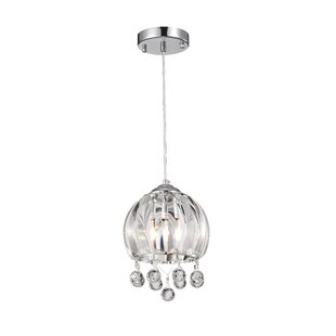 Cale 1-Light Crystal Pendant by House of Hampton