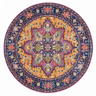 Casserly Pink/Orange Area Rug by Bungalow Rose