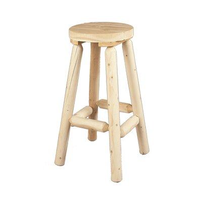 "30.5"" Bar Stool Rustic Natural Cedar Furniture"