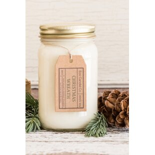 Christmas Wreath Scent Jar Candle