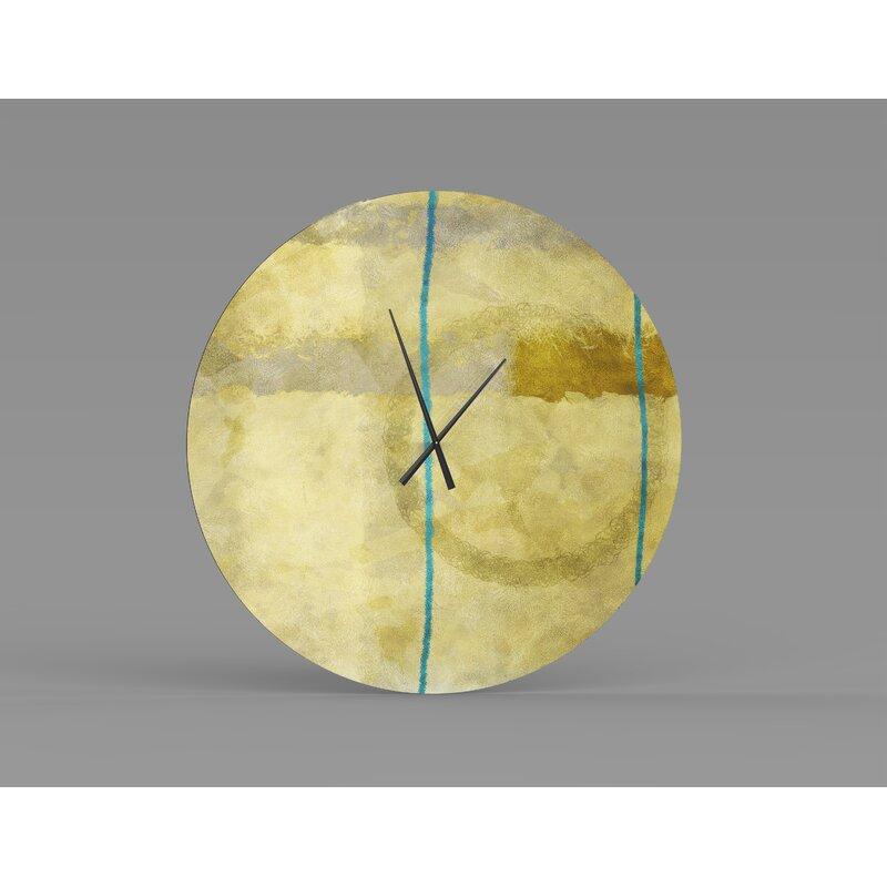 Orren Ellis Oversized Eshleman Wall Clock Wayfair