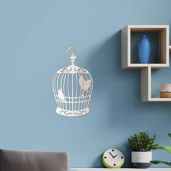 Walplus Birdcage Mirror Wall Sticker Mural Art Decals Home Decoration Bedroom