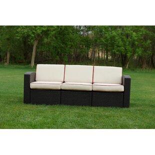 Brayden Studio Loggins Patio Sofa with Cushions