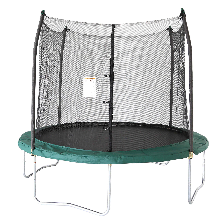 41e309c25e98b Skywalker 10  Round Trampoline with Enclosure