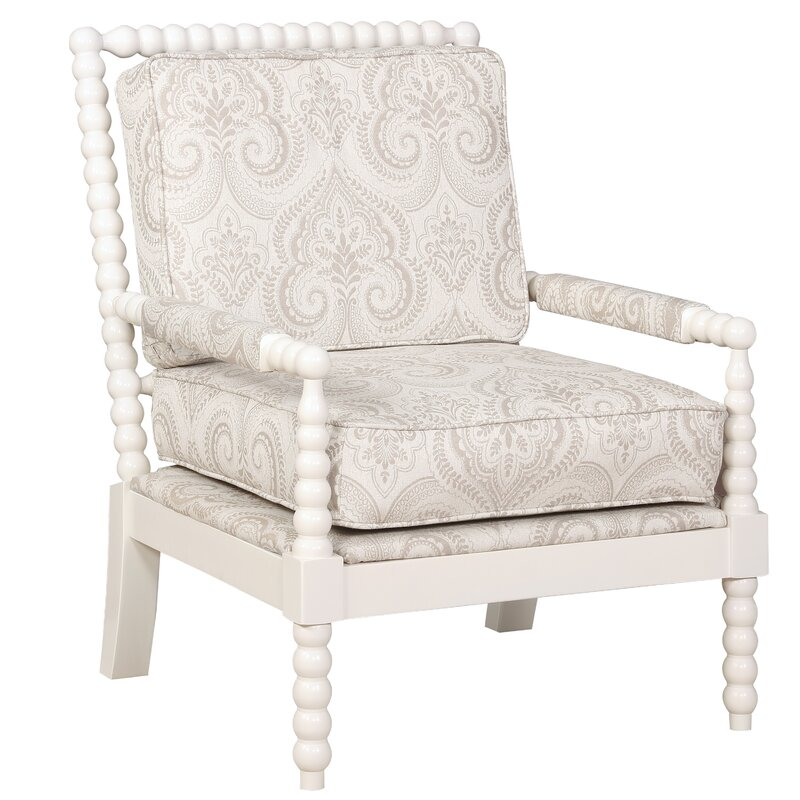 Shellplant Slipper Chair. #accentchair #armchair #furniture #warmwhite #spindlechair