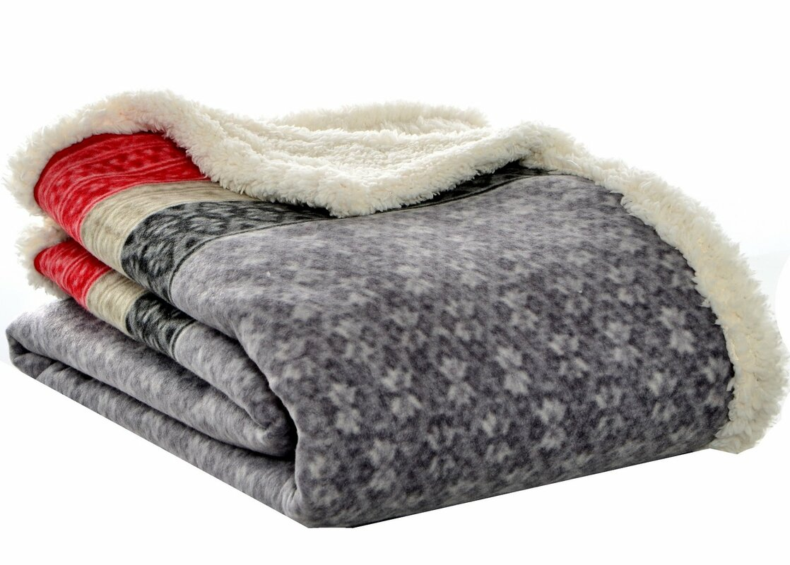 Eddie Bauer Fairisle Sherpa Throw Amp Reviews Wayfair
