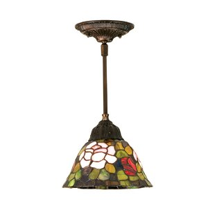 Meyda Tiffany Tiffany Rosebush 1-Light Cone Pendant