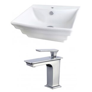 Searching for Ceramic 20 Wall Mount Bathroom Sink with Faucet and Overflow ByRoyal Purple Bath Kitchen
