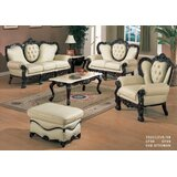 Adelle Leather 3 Piece Living Room Set by Astoria Grand