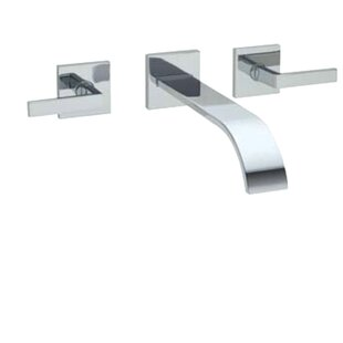 Rohl Wave Double Handle Wall Mount Tub Fi..