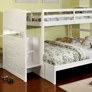 Farallones Twin over Full Bunk Bed with Drawer by Harriet Bee