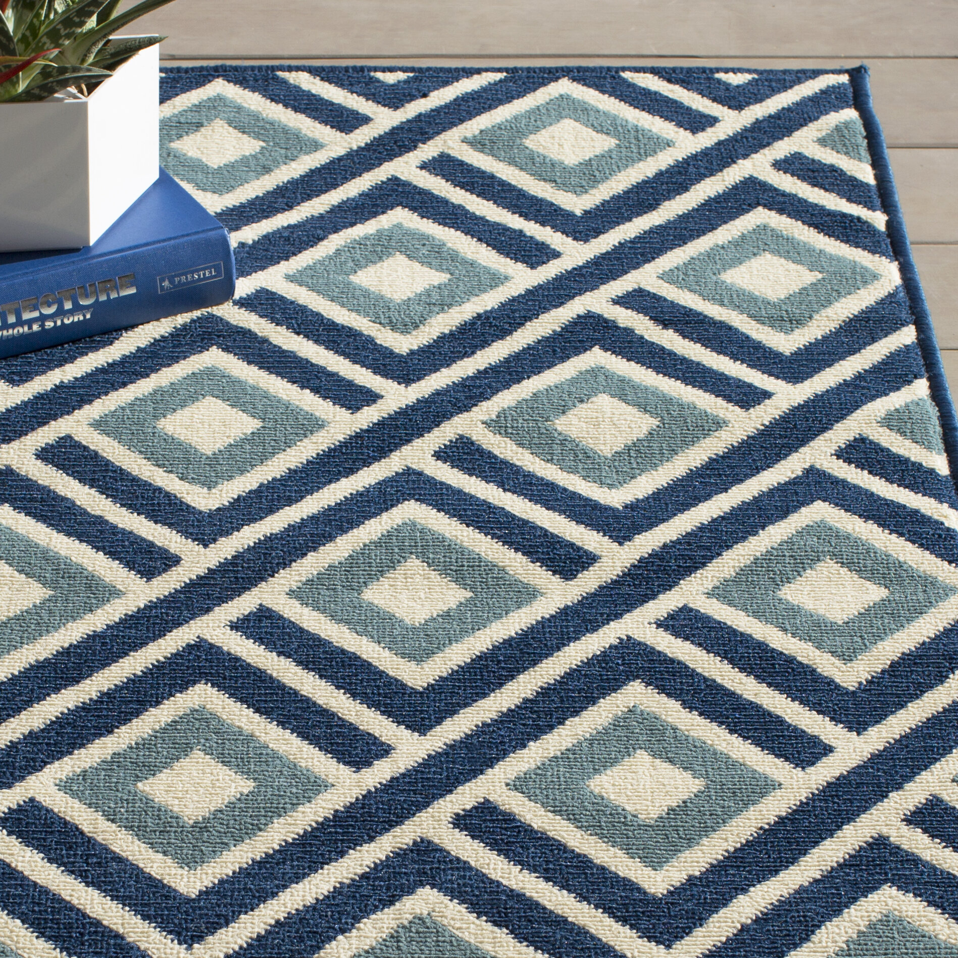 Willa Arlo Interiors Rahul Blue Indoor Outdoor Area Rug Reviews