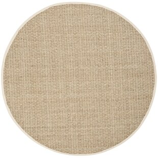 Abrielle Power Loom Natural/Ivory Area Rug by Highland Dunes
