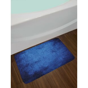 Martian Dark Blue Navy Blue Bath Rug