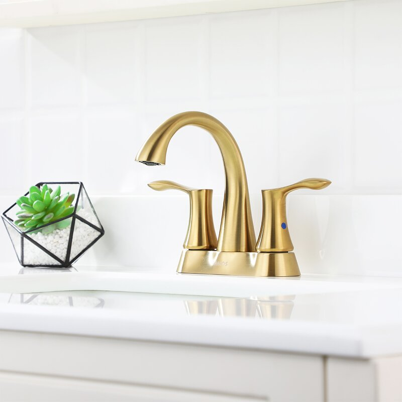 Parlos Home Centerset Bathroom Faucet With Drain Assembly Reviews Wayfair