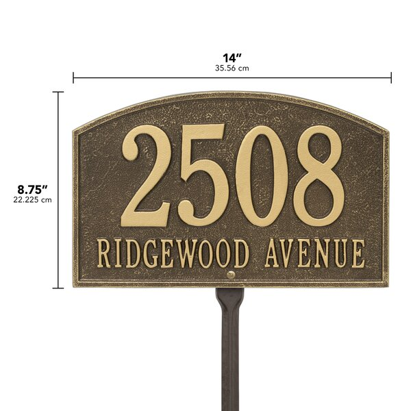 Old Century Forge Legacy 2 Line Lawn Address Sign Reviews Wayfair