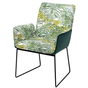 Owens Palm Print Upholstered Armchair (Set of 2)