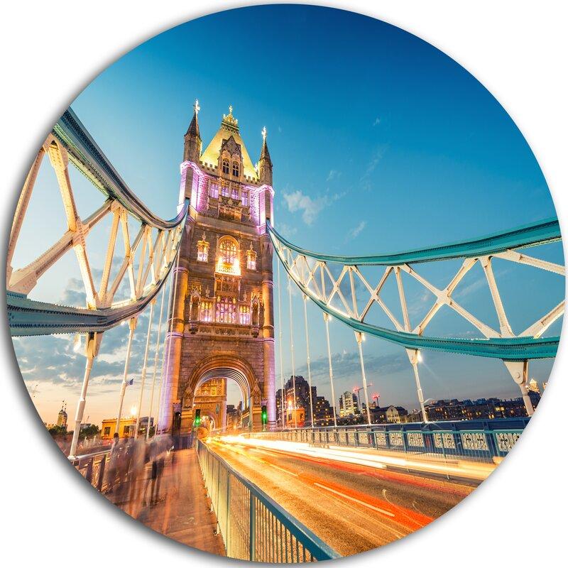 Designart Beautiful View Of Tower Bridge London Photographic Print On Metal Wayfair