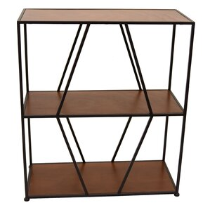 mciver metal and wood etagere bookcase