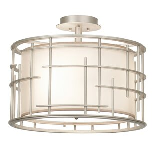 Atelier 3-Light Semi Flush Mount by Kalco