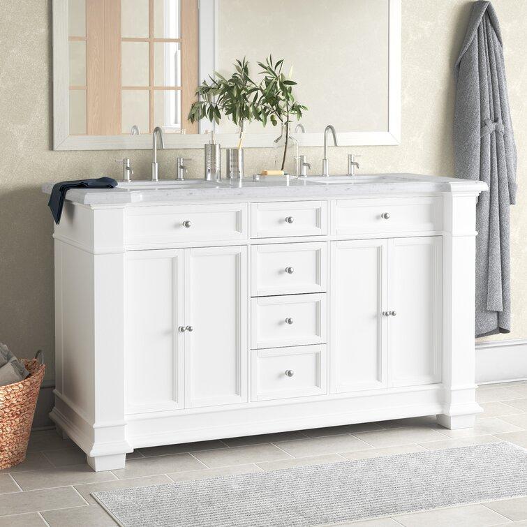 Three Posts Merrimack 60 Double Bathroom Vanity Set Reviews Wayfair