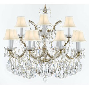 Astoria Grand Bellefonte Traditional 13-Light Shaded Chandelier