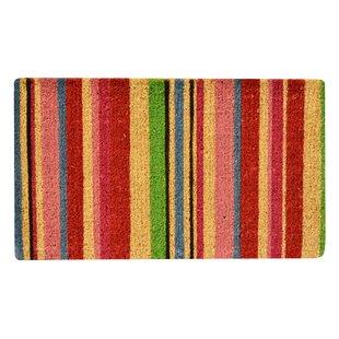 Reynoldsburg Stripes Coir Door mat