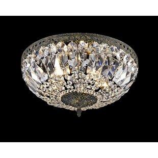 Astoria Grand Baronets Modern 5-Light Flush Mount