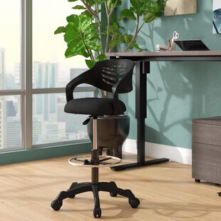 Knopp Mesh Drafting Chair by Symple Stuff Savings