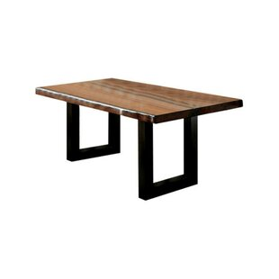 Whitford Solid Wood Dining Table Loon Peak