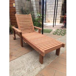 Orren Ellis Varda Rustic Chaise Lounge