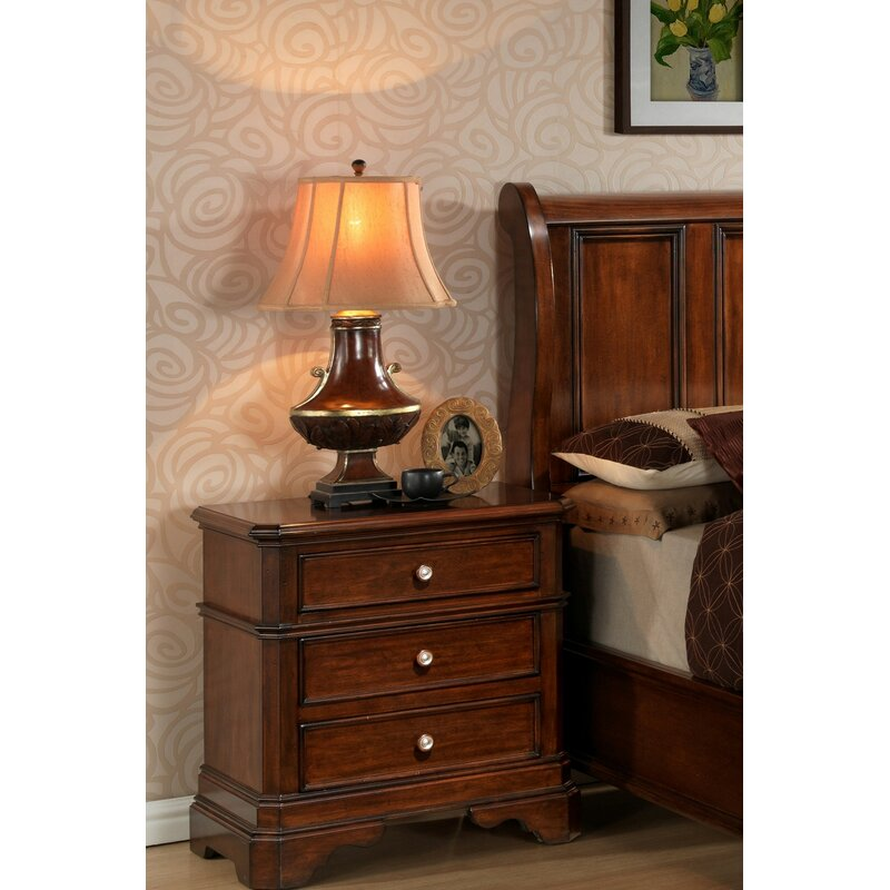 Wildon Home Bayliss 3 Drawer Solid Wood Nightstand In Cherry Reviews Wayfair