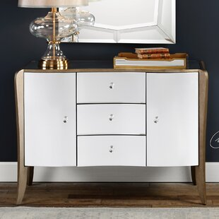 House of Hampton Barger Mirrored Buffet Table