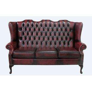 Cedric Genuine Leather 3 Seater Chesterfield Sofa