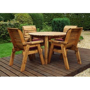 Feliciano 4 Seater Dining Set With Cushions By Union Rustic