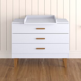 Yuliana 3 Drawer Dresser By Harriet Bee