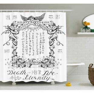 White Gothic Medieval Magic Single Shower Curtain