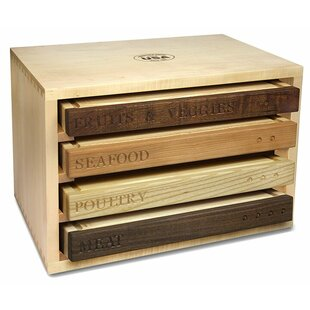 Healthy Living 4-Piece Wood Cutting Board Set