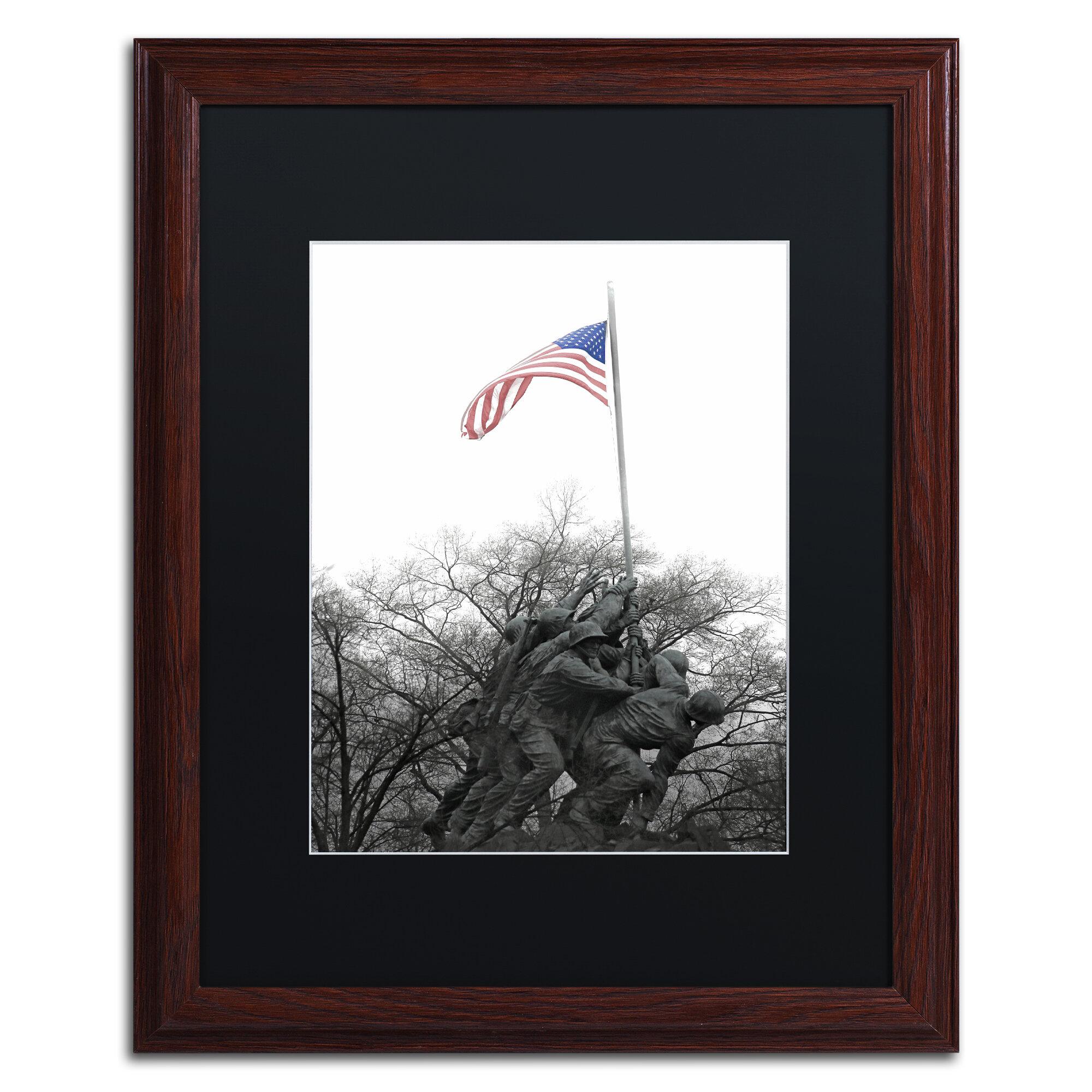 Trademark Art Courage Framed Photographic Print On Canvas Wayfair