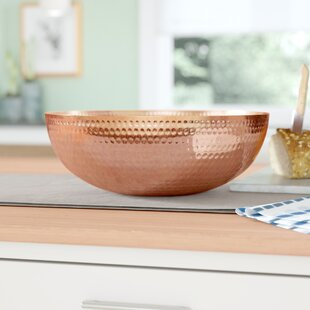 Trevor Metal Serving Bowl